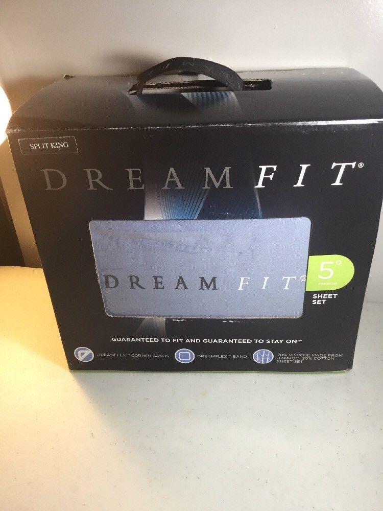 Dreamfit Degree 5 Bed Sheet Set Bamboo Cotton Rich Blend Split