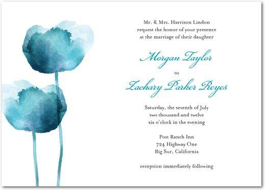 Watercolor Tulips Signature White Textured Wedding