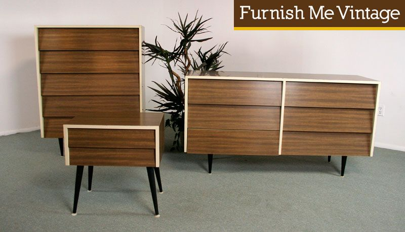 3 Piece Retro Bedroom Set After Florence Knoll 125