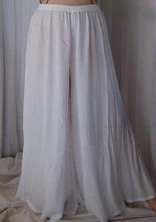 b0f88df430f WHITE PALAZZO PANT SPLIT SKIRT GAUCHO FITS - L XL 1X 2X - R560S ...
