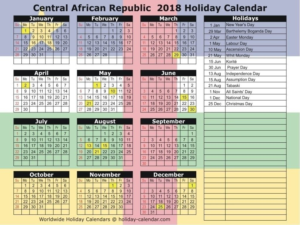 National Day Calendar December 2018 Calendar Template