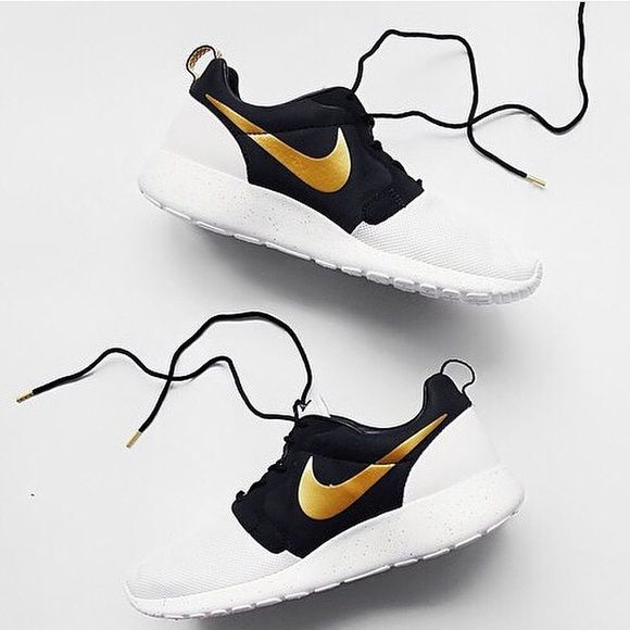 935730c25b Nike roshes Gold and black from one and and white and gold from other only  worn once size 7.5 in men Nike Shoes Athletic Shoes