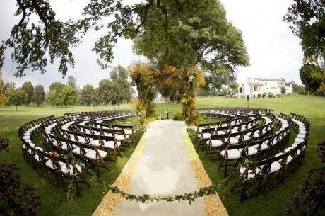 Posição das cadeiras na cerimônia