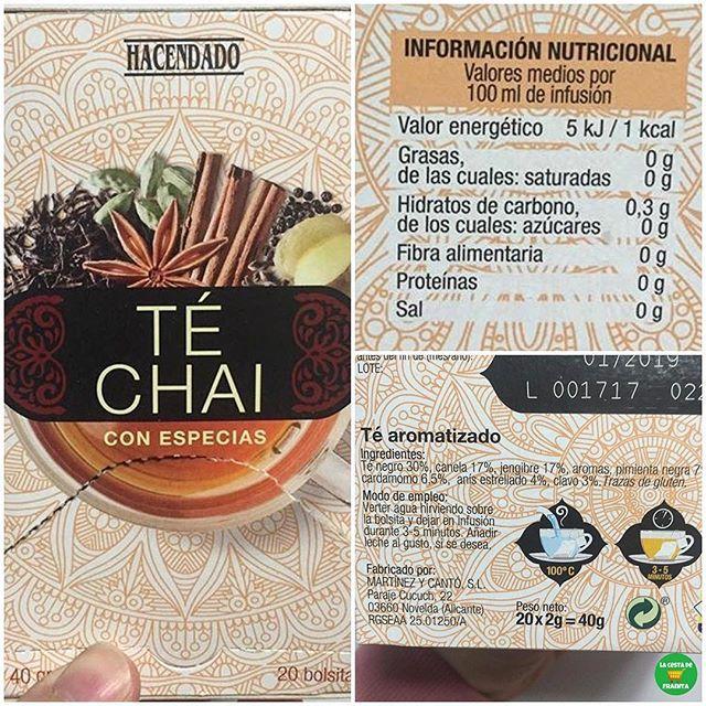 Infusion Te Chai Con Especias Hacendado Supermercado