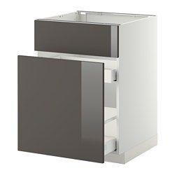 Meubles Bas Hauteur Caisson 80 Cm Système Metod Ikea Element