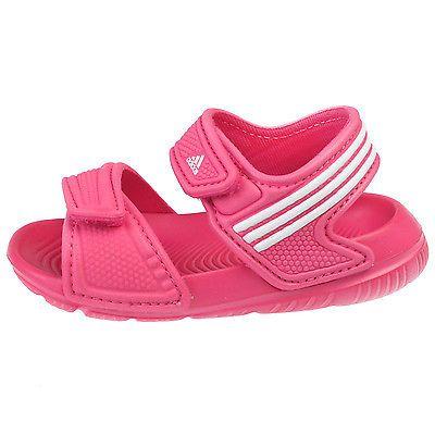c23b07ccb9b06 Adidas Akwah 9 Infant AF3867 Pink White Baby Girls Strap Sandals Toddler  Size 7