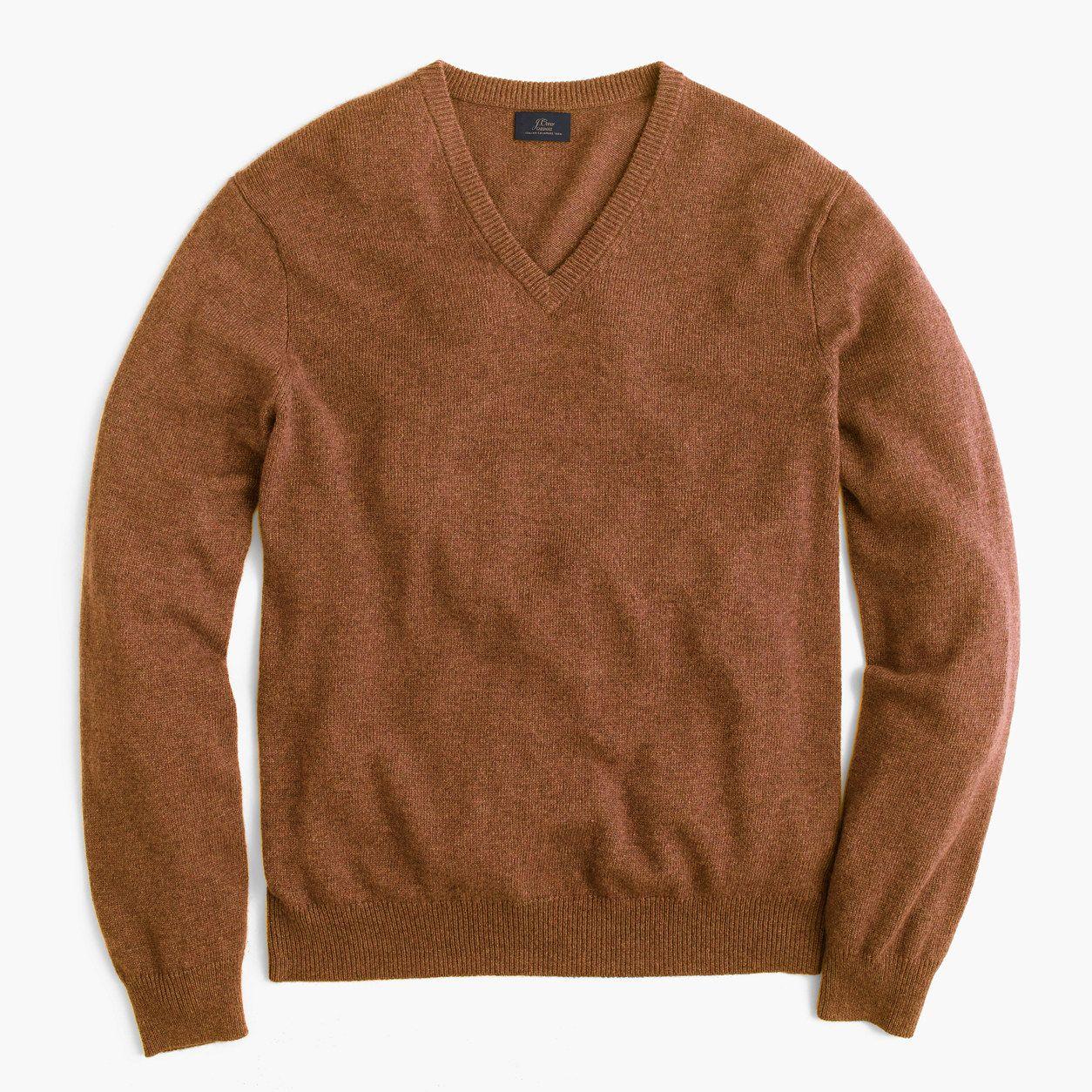 80f8ddc91d3 J.Crew Mens Tall Italian Cashmere V-Neck Sweater (Size L Tall ...