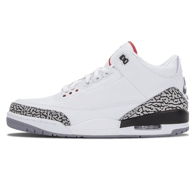 new product 7d47e c4317 2019 Jordan 3 Men/'S Basketball Shoes White Cement Black Cat ...