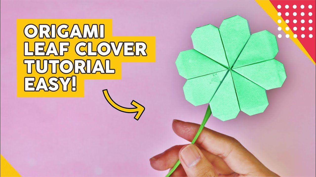 Diy Cara Membuat Bunga Paling Simple Semanggi 4 Daun How To Fold Fo Origami Blog Bunga
