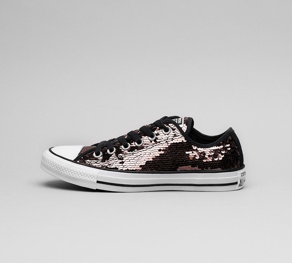 c7a76d6a38c Womens Chuck Taylor All Star Ox Sequin Trainers