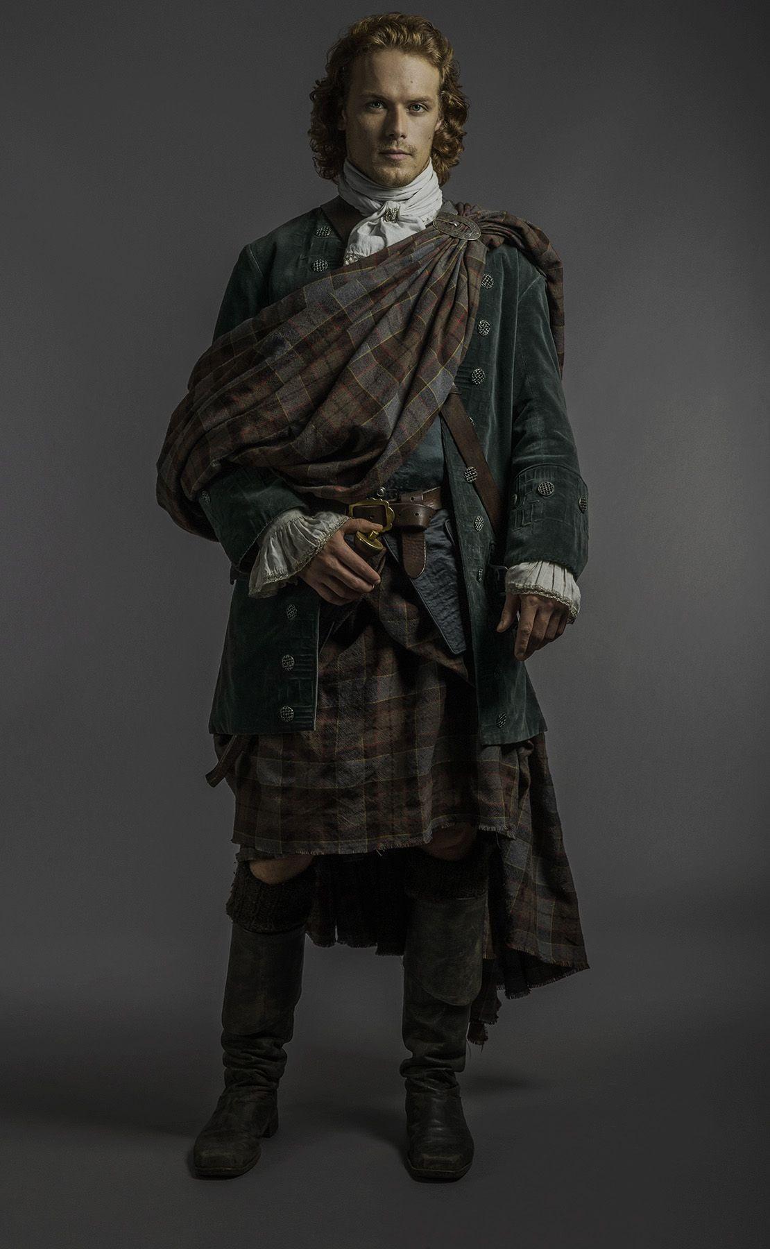 Outlander Jamie Scottish Kilts Costumes For Men