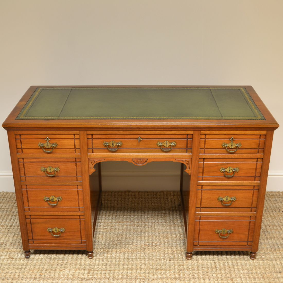 Quality Victorian Walnut Antique Pedestal Desk Antiques World Antique Desk Antique Pedestal Desk Pedestal Desk