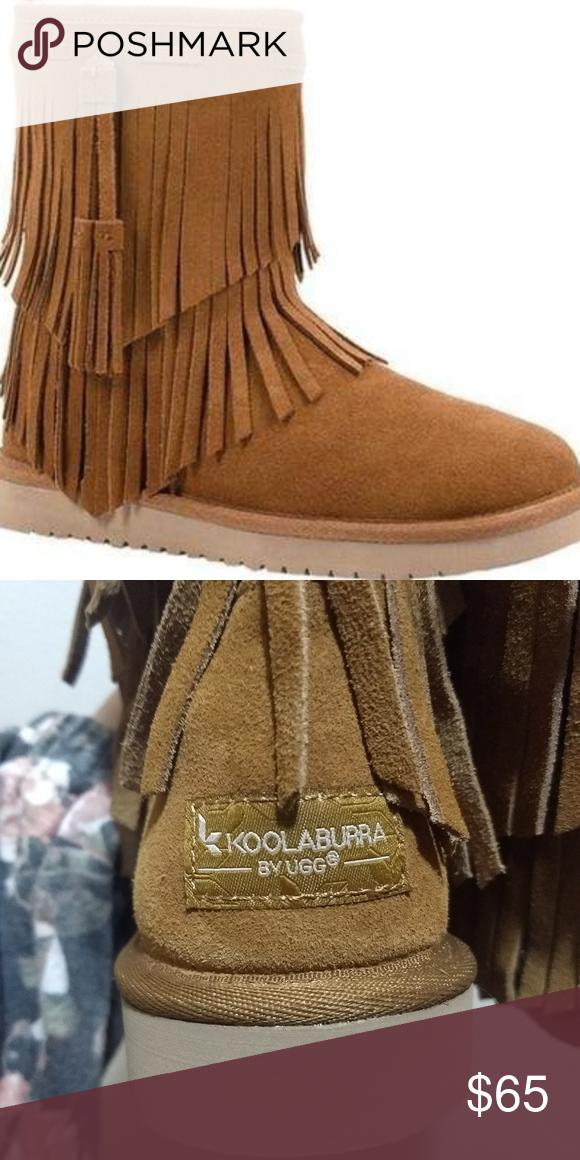 81734577b38 Chestnut suede fringe UGG boot New ladies size 7 Koolaburra by UGG ...