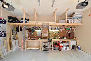 How To Create The Garage Workshop Of Your Dreams Garage Workshop Layout Garage Workbench Plans Overhead Garage Storage