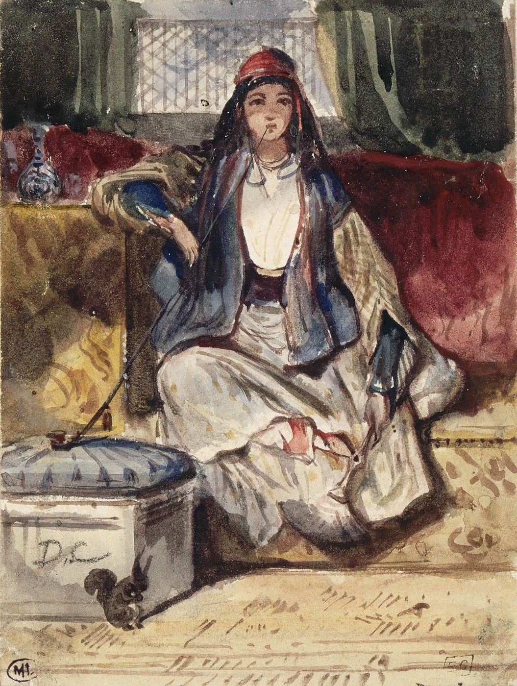Femme fumant un pot