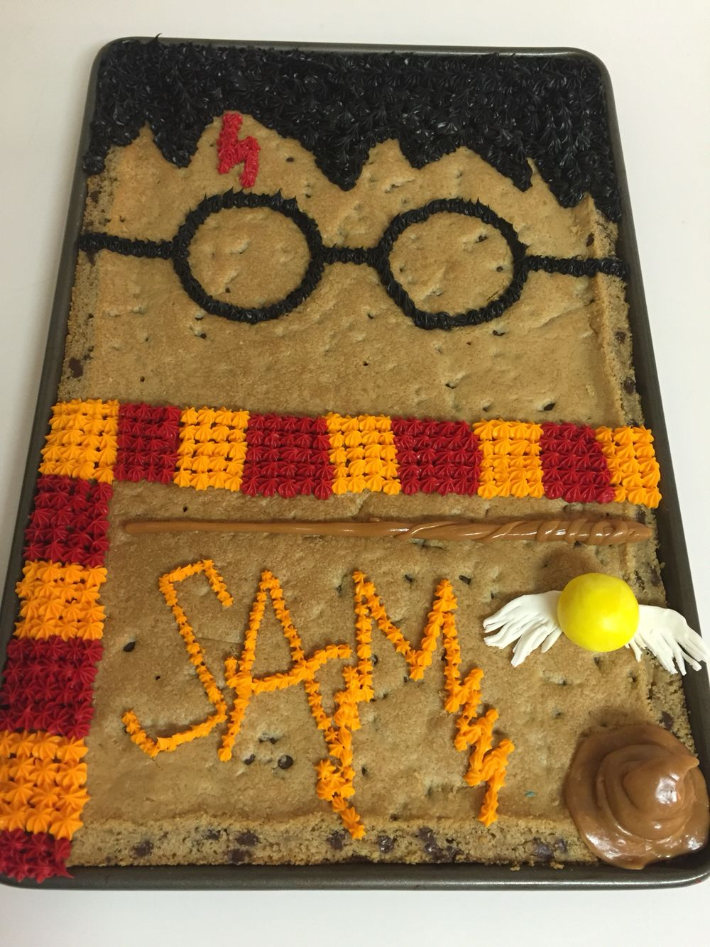 Sams 9th Harry Potter Cookie Cake Birthday My Creations