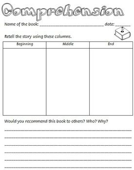 Guided Reading Worksheets #1 | comprehension | Pinterest | Guided ...