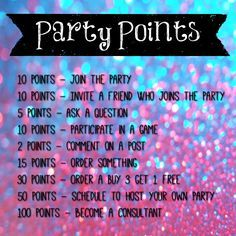 Online Party Games For Consultants Mary Kay Facebook Party Party Points Facebook Party