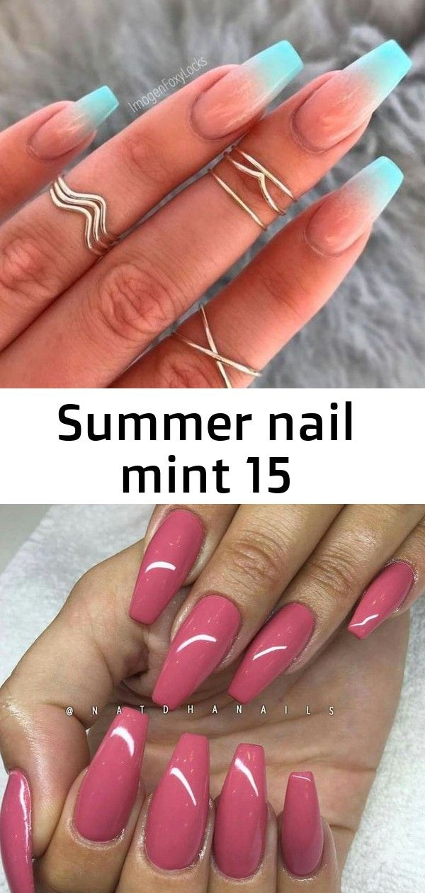 Zomerse nagel mint 15