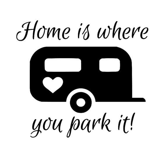Home Is Where You Park It Vinyl Decals By ScrapShackMetal On Etsy