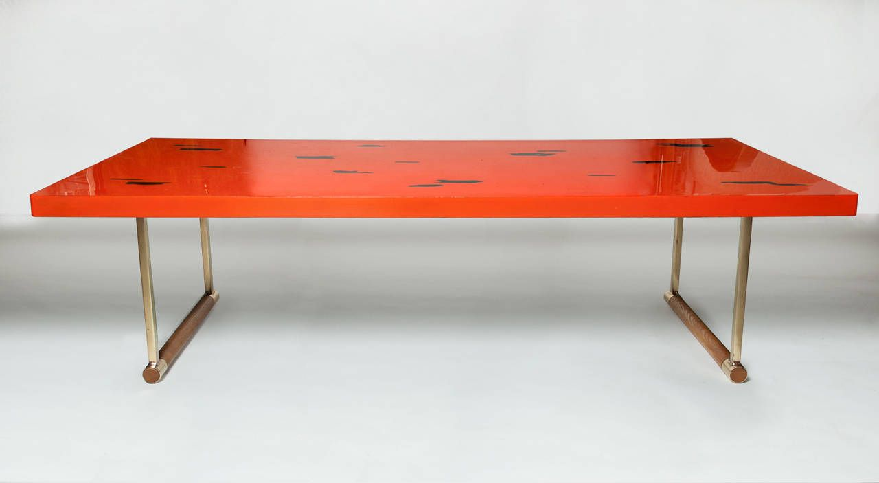 Japanese Lacquered 1950s Coffee Table Hardwood furniture Coffee