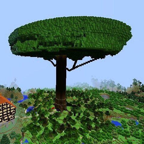 大樹と魔法使いの家みたいなのを作りたかっけど これじゃない感が