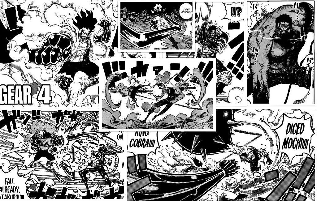 One Piece Chapter 895 Katakuri vs Luffy Gear 4 Snakeman