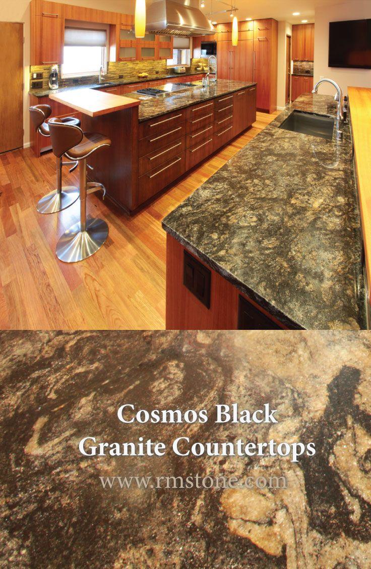 Cosmos Black Granite Countertops From Rocky Mountain Stone In Albuquerque,  NM