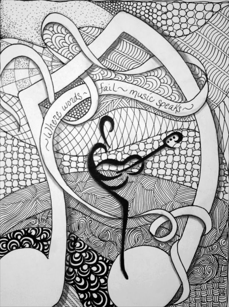 Zentangle Expressions: Zentangle Music speaks | zenspiration ...