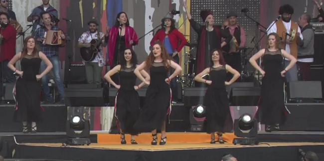 La DMC Gran Sasso Laga promuove lOrchestra Popolare del Saltarello al concerto del Primo Maggio a Roma