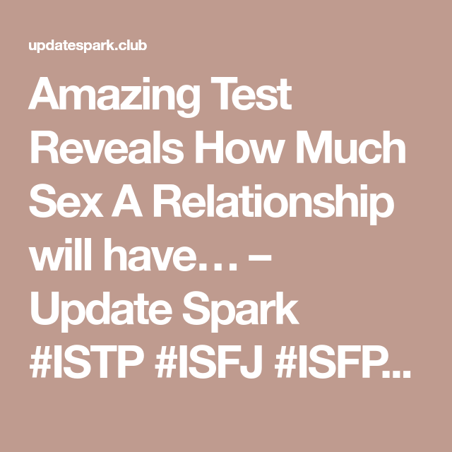 Istp and sex
