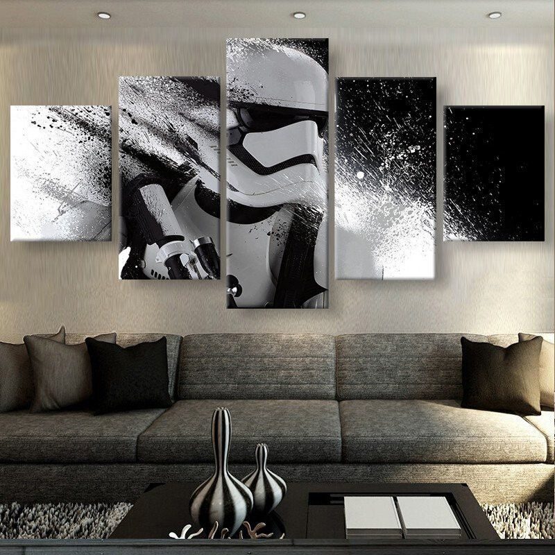 Star Wars Storm Trooper  Storm Troopers Panel Wall Art And Canvases New Living Room Paintings Design Ideas