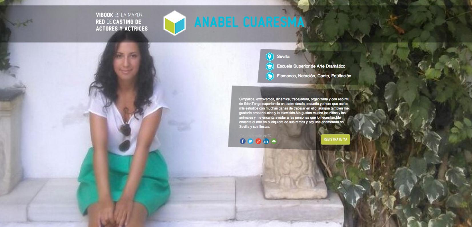 Anabel Verdu actriz anabel cuaresma | actores y actrices en vibook