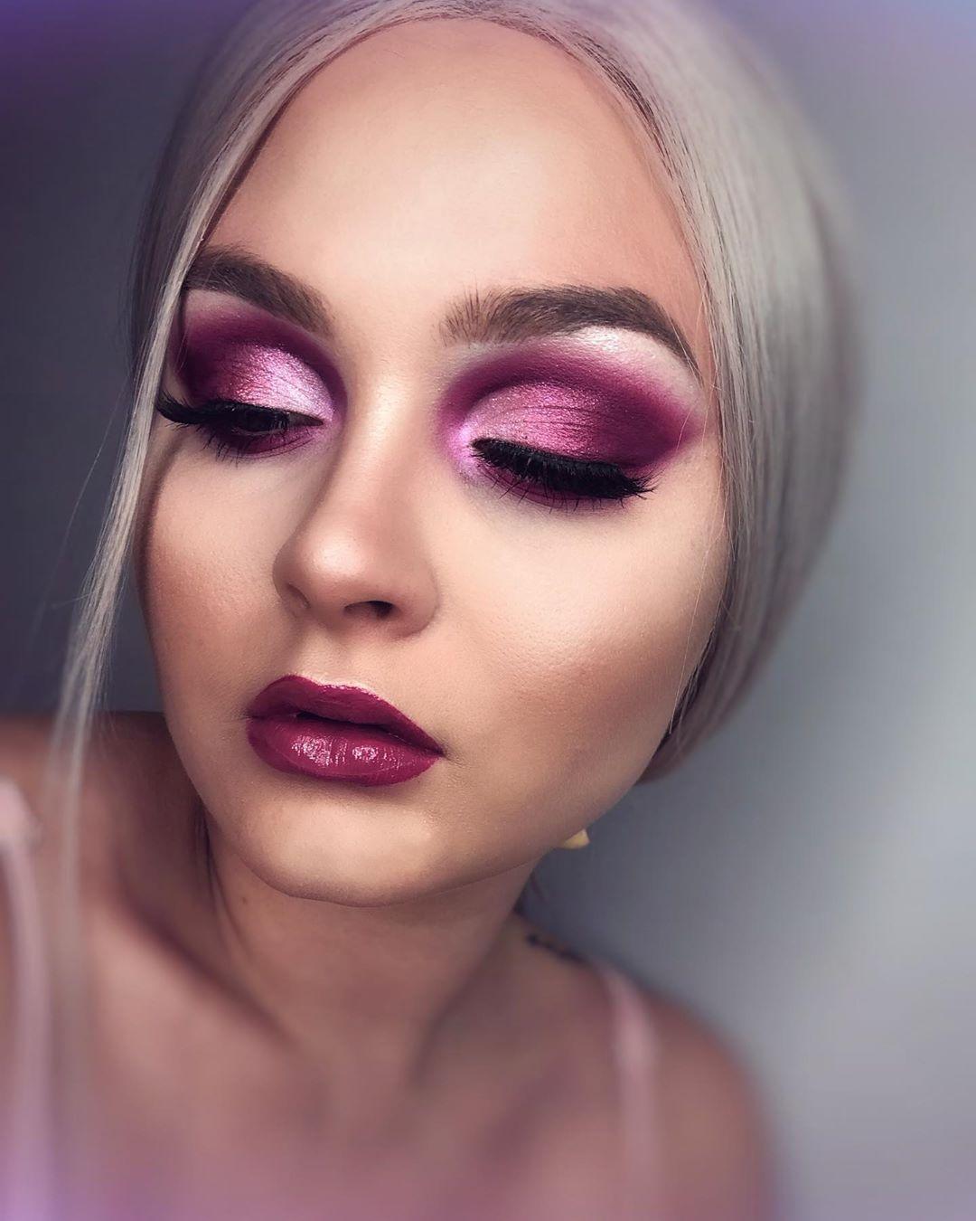 Full glam purple makeup! Purple makeup, Makeup, Makeup