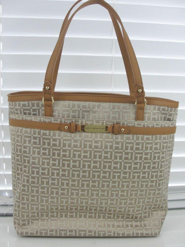 tommy hilfiger tasche handtasche shopper tote beige. Black Bedroom Furniture Sets. Home Design Ideas
