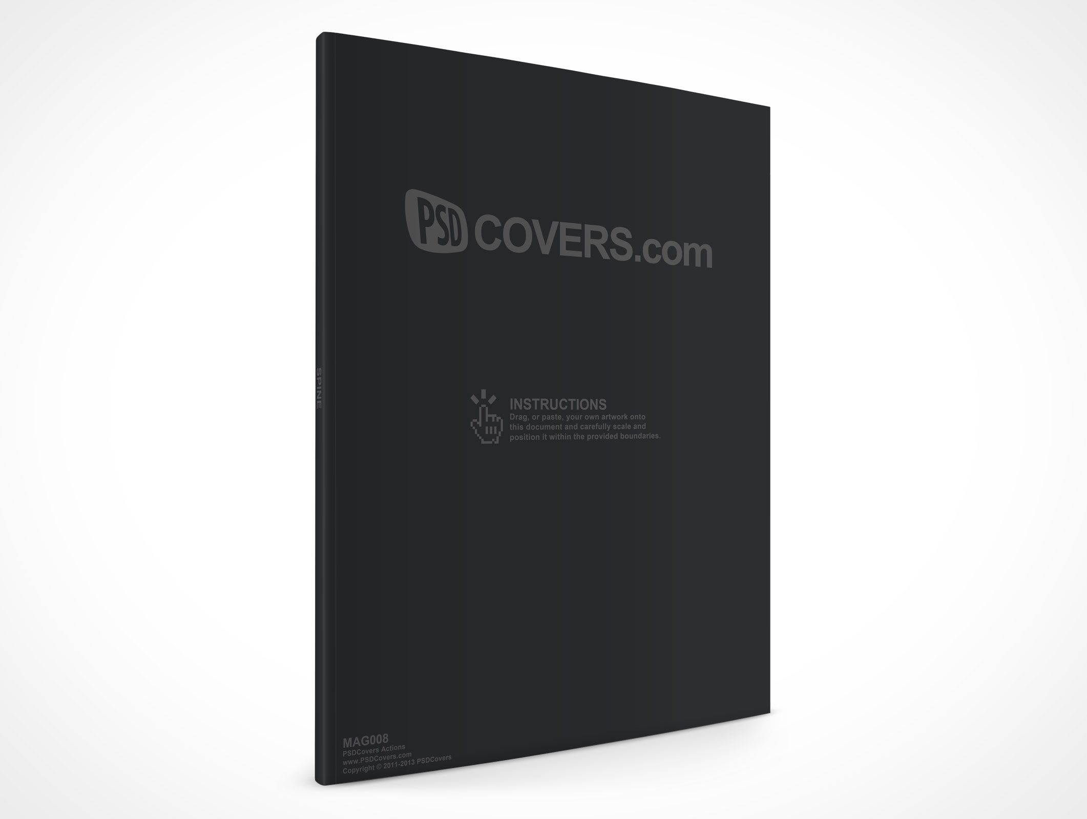 MAG008 is a front facing shot of a standard magazine angled at 30 ...