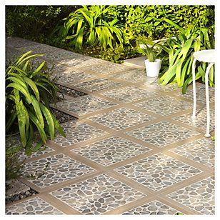 Lamosa cer mica 40 x 40 cm woodriver gris m2 gris y for Modelos de ceramicas para patios