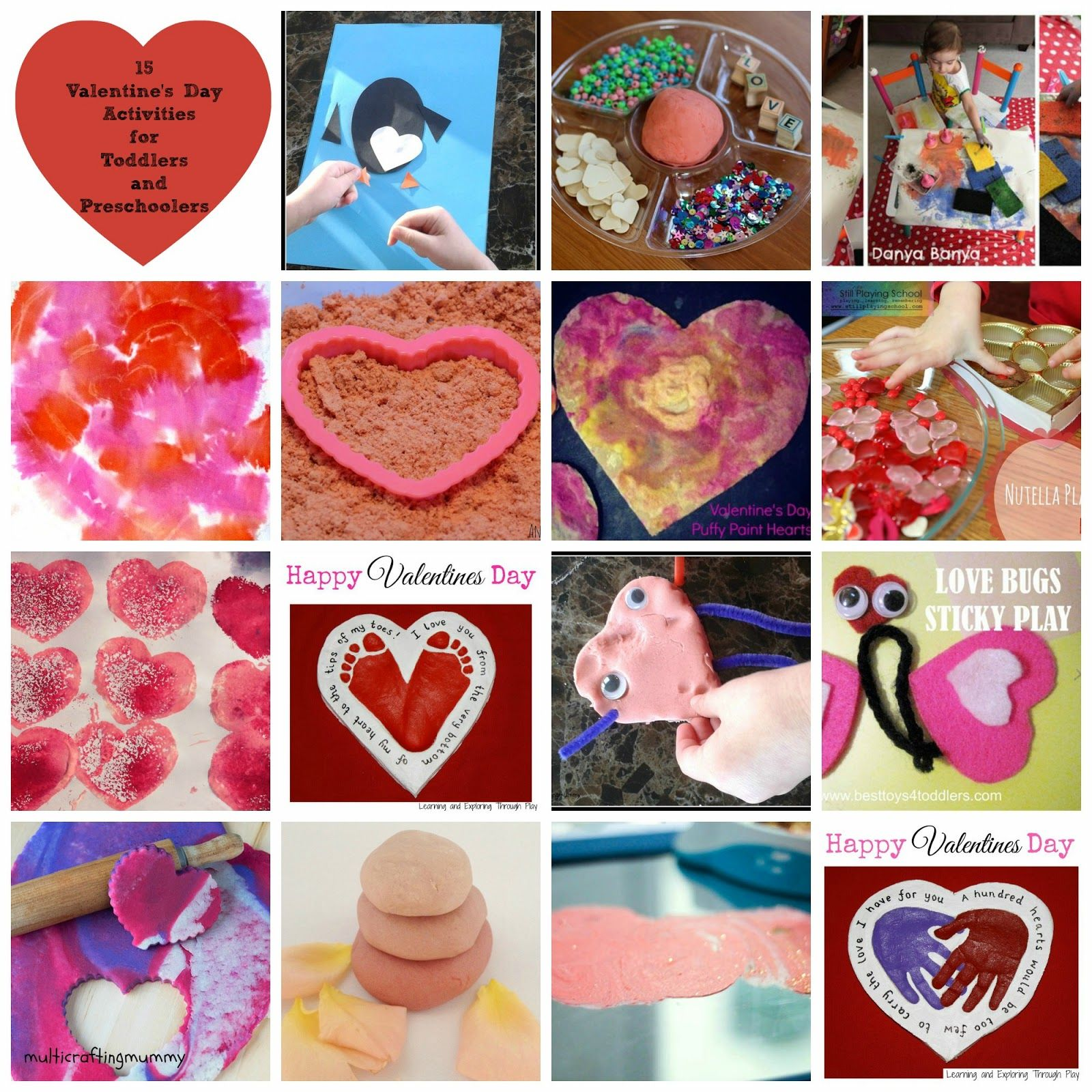 Multicraftingmummy Valentine S Day Arts And Crafts Activities For Toddlers