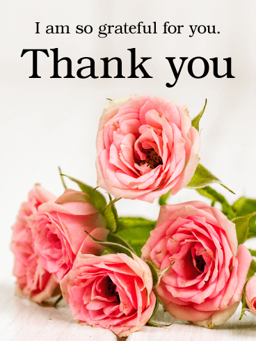 Thank You Flower Card Birthday Greeting Cards By Davia Thank You Flowers Thank You Pictures Thank You Messages Gratitude