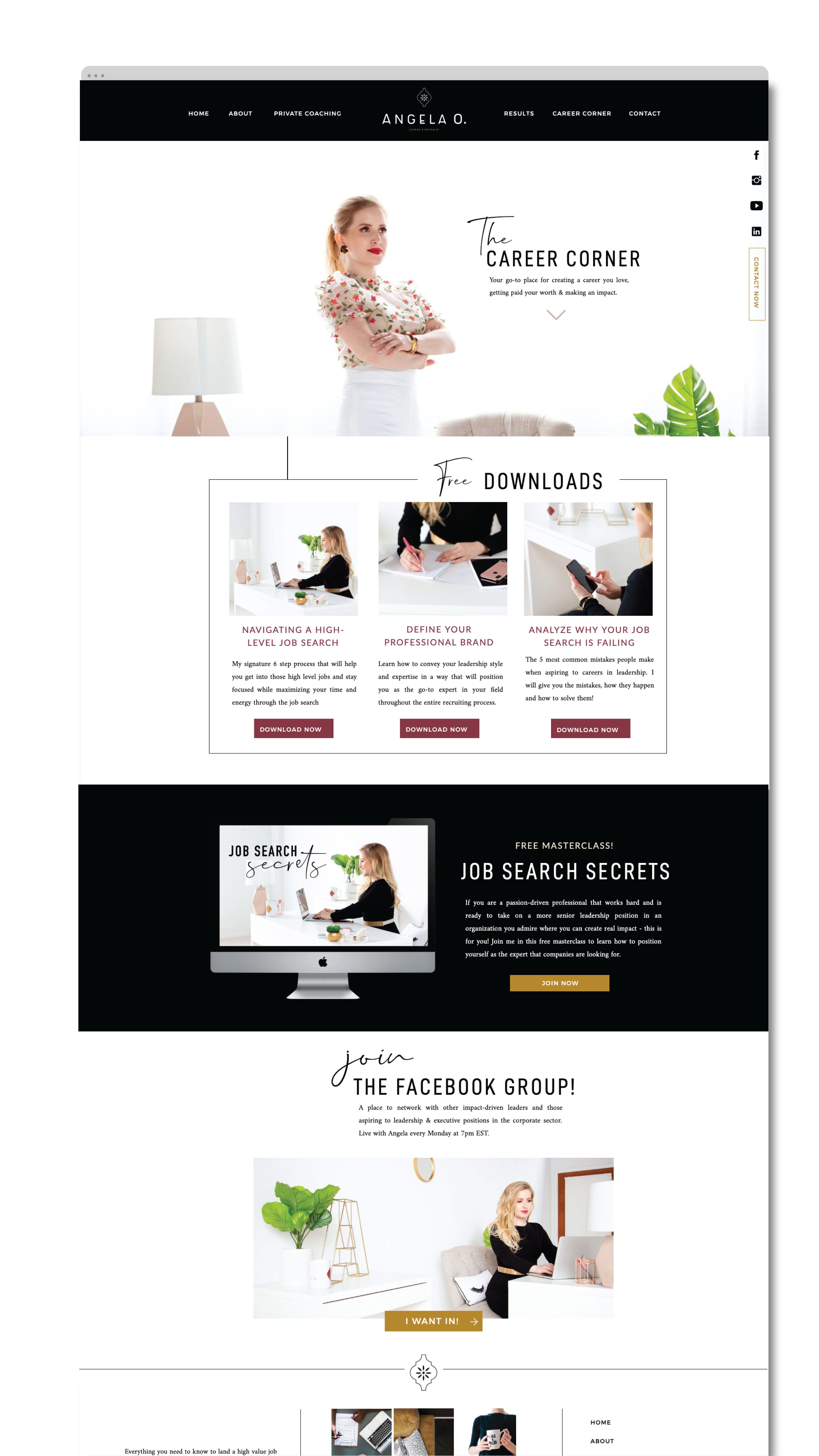 Graphic Design Digital Marketing Wellness Branding Healthy Lifestyle Branding Website Design Custom B Coach Website Business Website Design Website Design