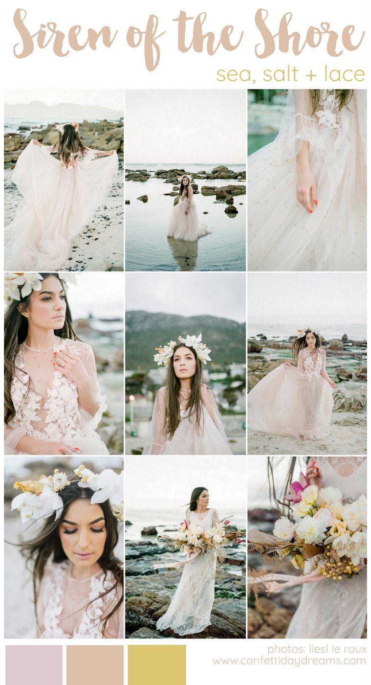 Siren Of The Cape Town Shore Beach Bridal Editorial Wedding Color