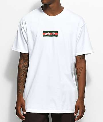 6a88c5d28559 Artist Collective G Box It's Lit White T-Shirt | MMM di 2019 ...