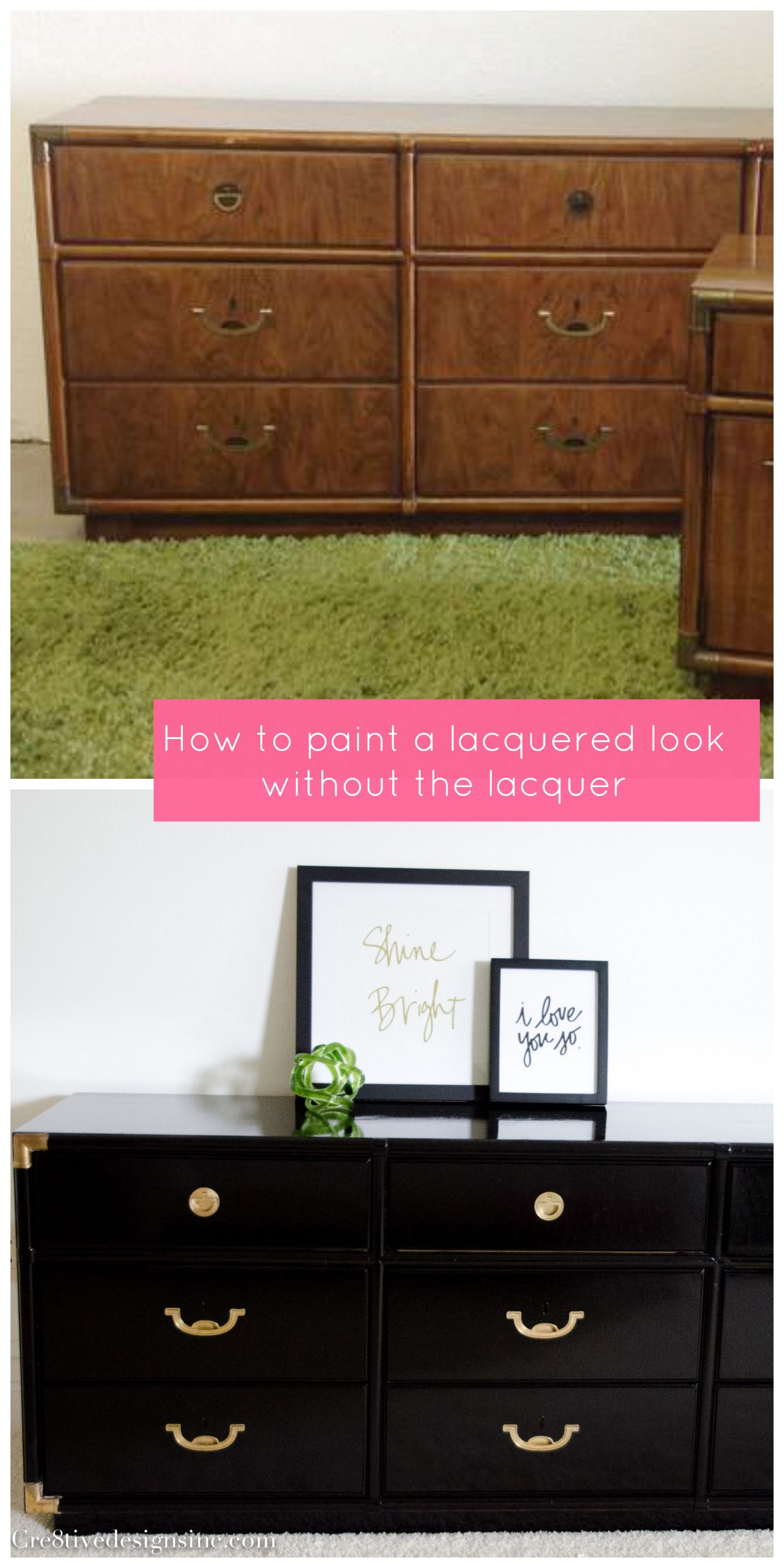 Diy Lacquered Campaign Dresser With Rustoleum Oil Based Paint