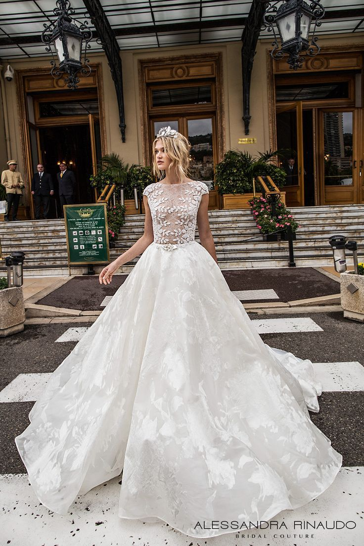 df1227352a0 alessandra rinaudo 2017 bridal cap sleeves bateau neckline floral heavily  embellished bodice romantic princess a line wedding dress with pockets lace  back ...