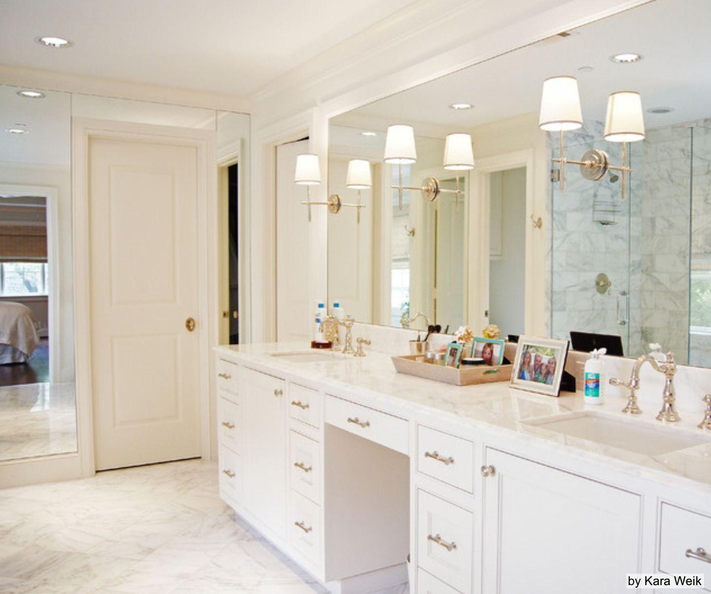 Master bath layout - love the full length mirror | Bathrooms ...
