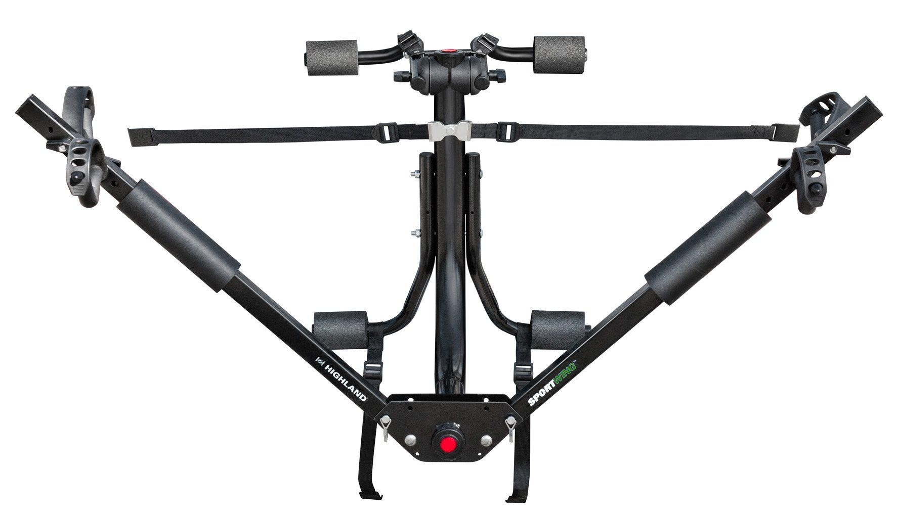 Highland 1378000 Sportwing Trunk Mount Bike Rack Holds Two Bikes Any Shape And Style Adjustable To Fit Both A Trunk Mount Bike Rack Bike Rack Car Bike Rack