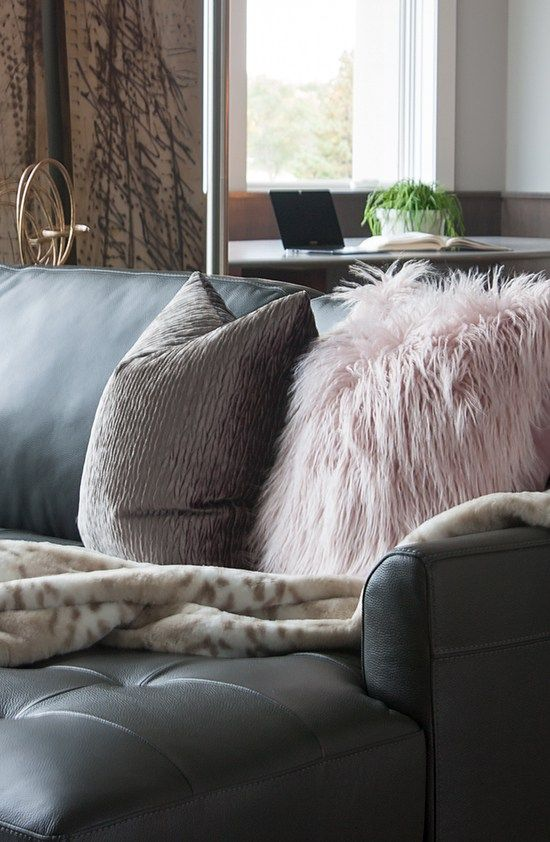 Swell Decorating With Sheepskin And Faux Fur Leather Sectional Caraccident5 Cool Chair Designs And Ideas Caraccident5Info