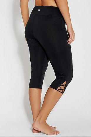 10a2d616e3919 Plus size capri legging with openwork, Maurices, $34 in 2019 | You ...