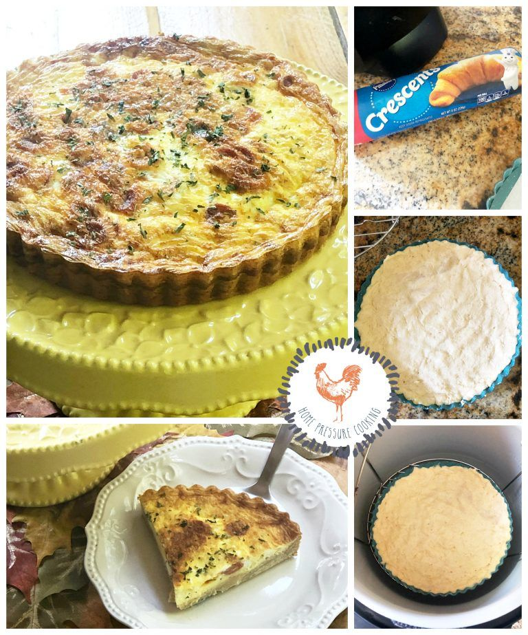 Crescent Quiche in the Ninja Foodi Home Pressure Cooking