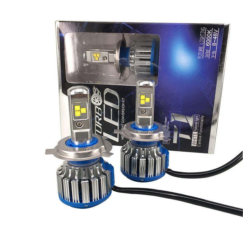 2016 새로운 오류 무료 슈퍼 밝은 자동차 헤드 라이트 H7 H4 H1 LED 자동차 전구 자동차 헤드 램프 6000 천개 자동차 조명